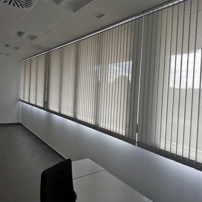 cortina roma 128 mm de bandalux de tejido opaco