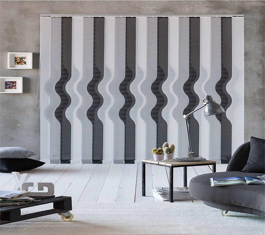 cortina vertical con estampado