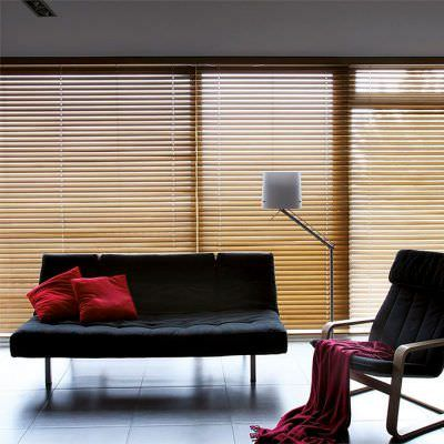 veneciana de madera vintage y elegante
