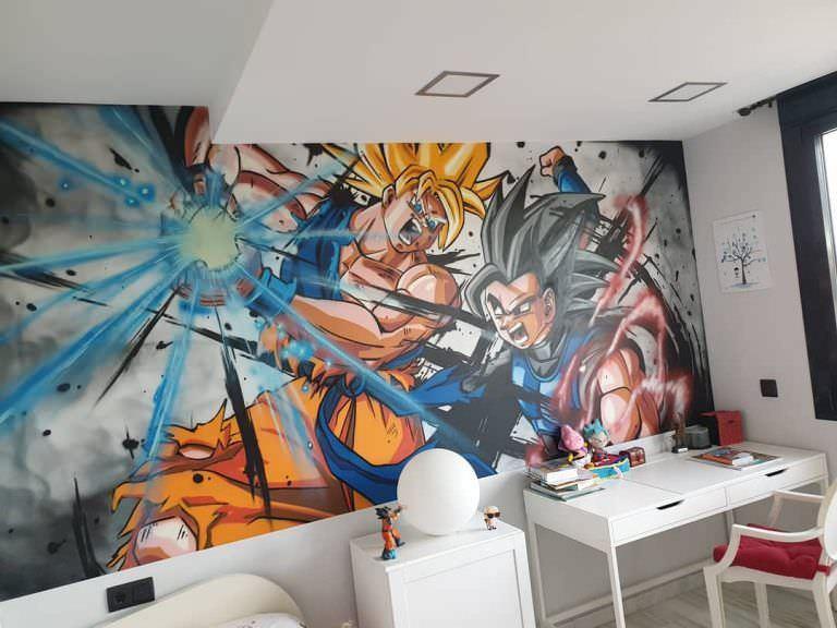 Combinar un estor con un graffitti artístico en habitaciones infantiles