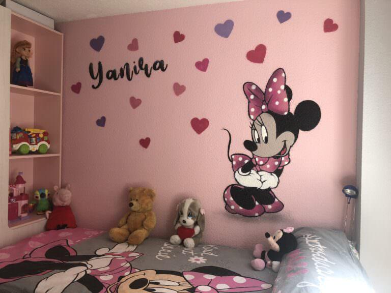 graffitti disney para habitación de niña